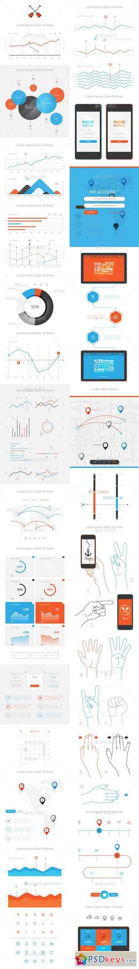 Vector elements of infographics and user interface 10131981