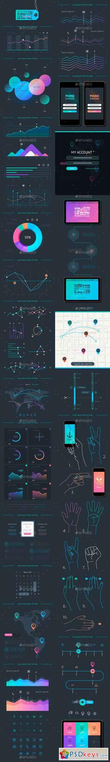 Vector Elements of Infographics and User Interface 10052679