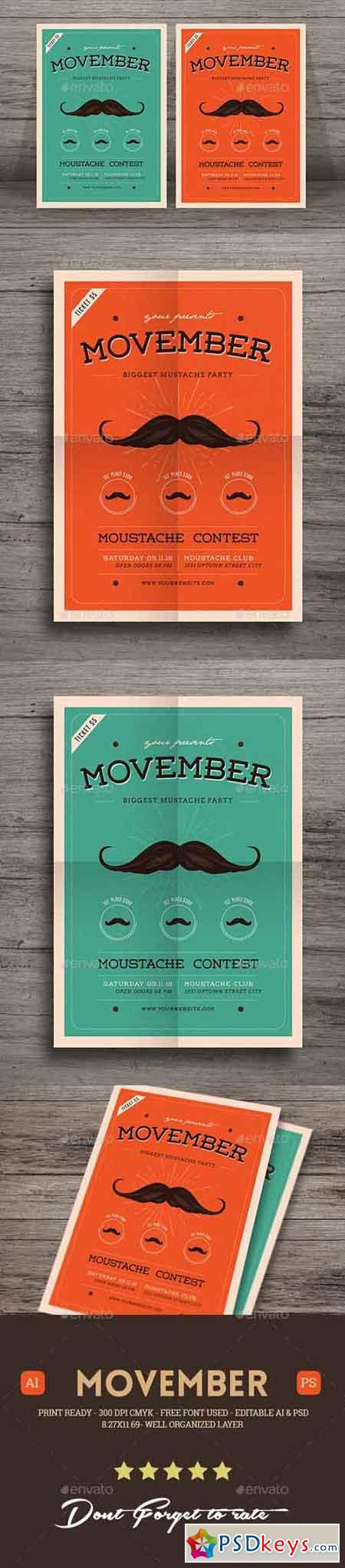 Movember Event Flyer 18617126