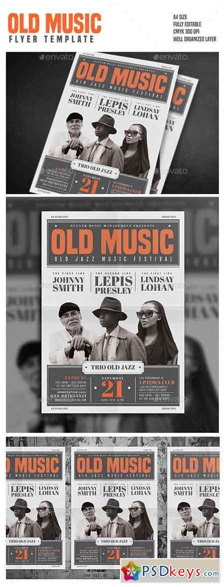 Old Vintage Music Flyer 15786428
