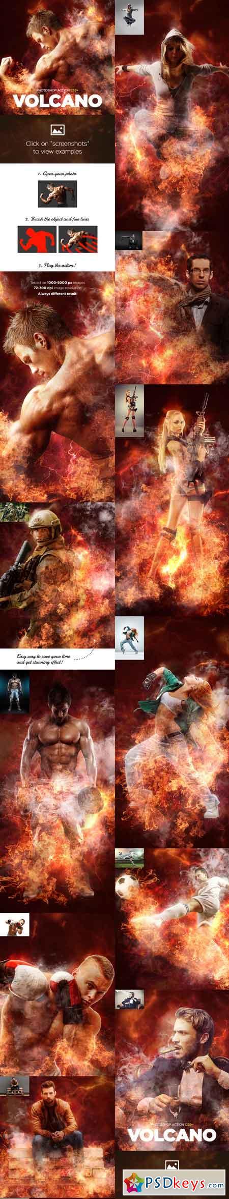 Volcano CS3+ Photoshop Action 18069500
