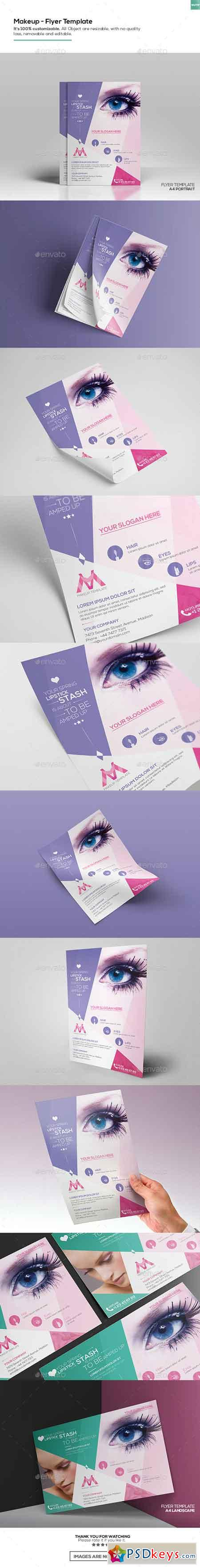 Makeup Flyer Template 16244307 Free Download Photoshop Vector
