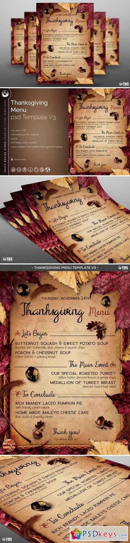 Thanksgiving Menu Template V3 904325