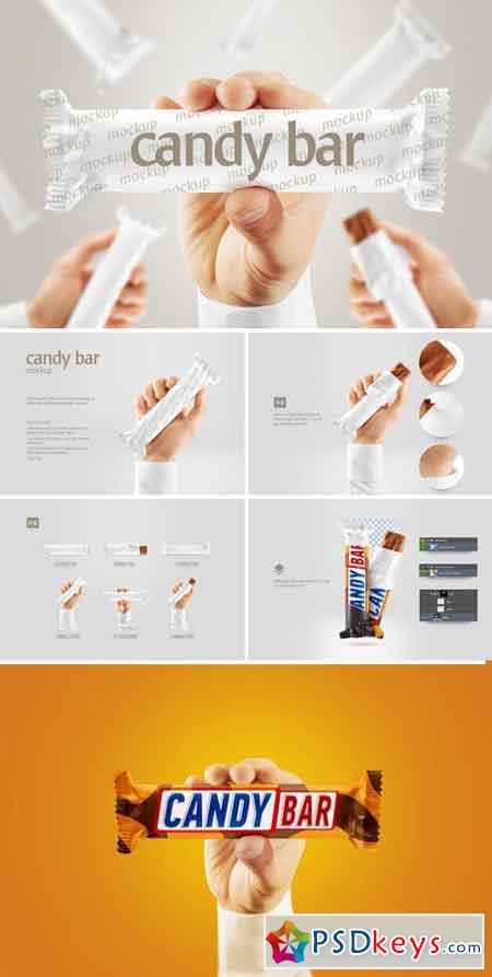 Candy bar mockup 989200