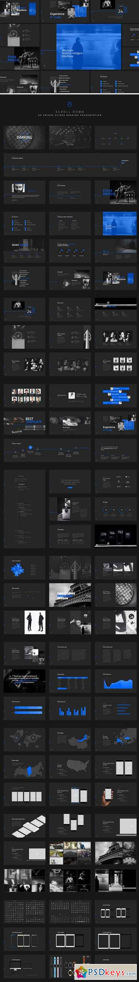 Darking-Minimal Powerpoint Template 929569