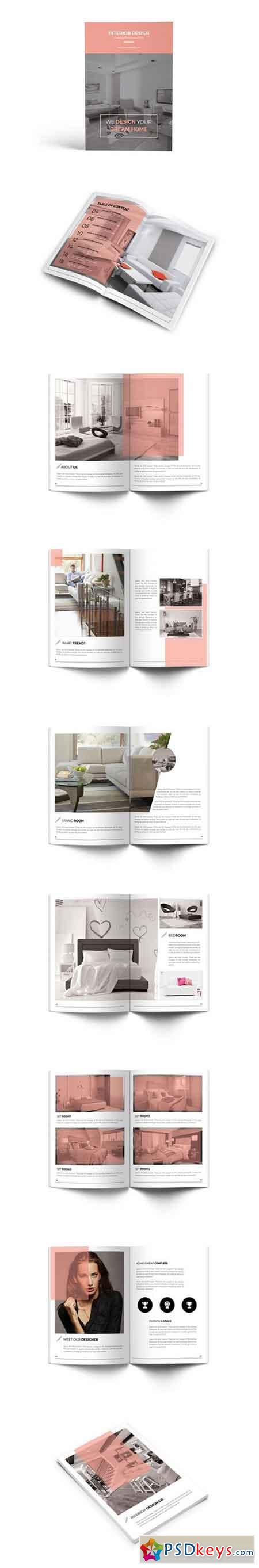 Interior Design Catalog Brochure 931778