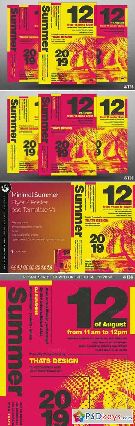Minimal Summer Flyer Template V1 727538