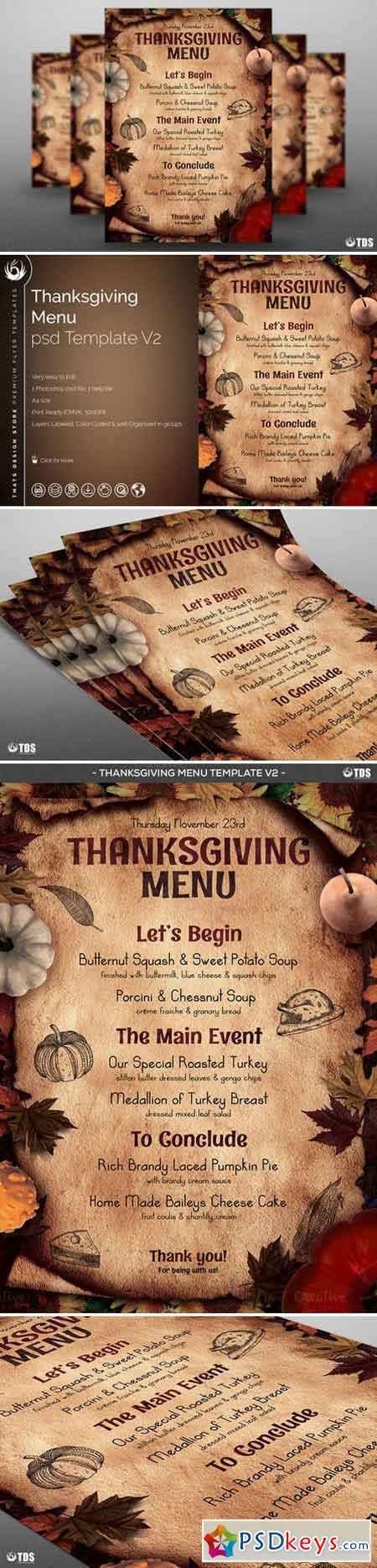 Thanksgiving Menu Template V2 887796