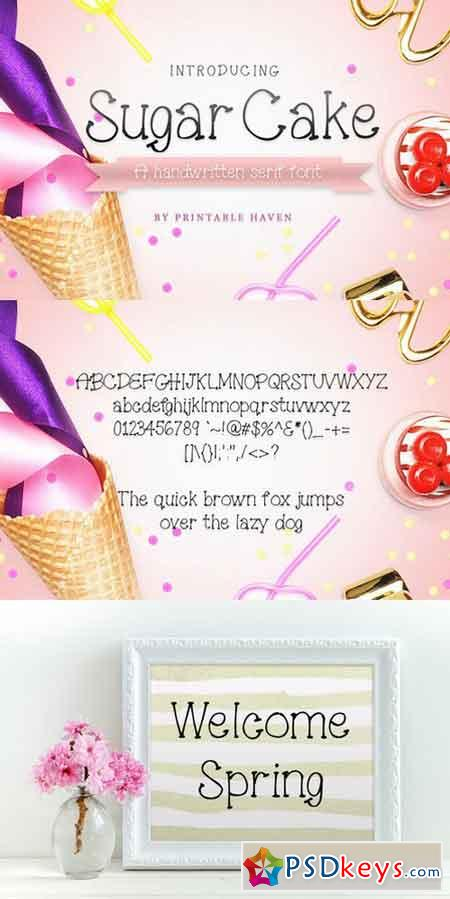 Sugar Cake Serif Font 996505