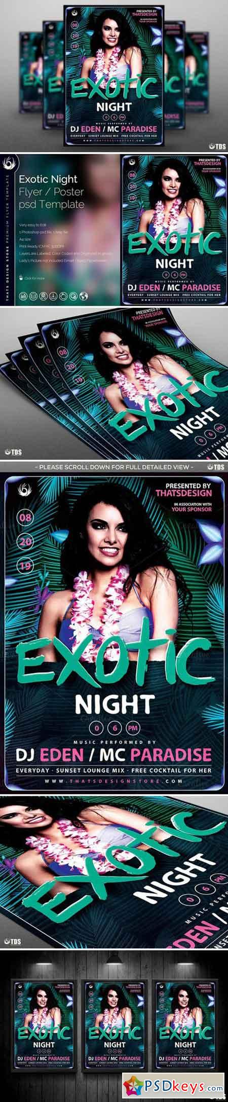 Exotic Night Flyer Template 691261