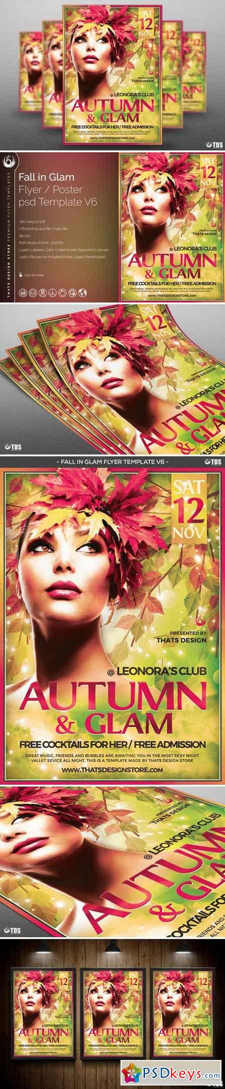 Fall in Glam Flyer Template V6 885779