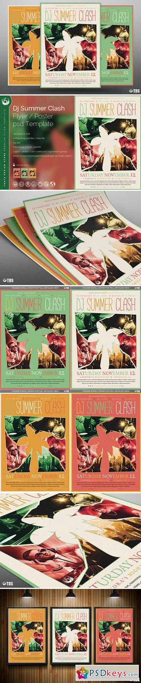 DJ Summer Clash Flyer Template 691262