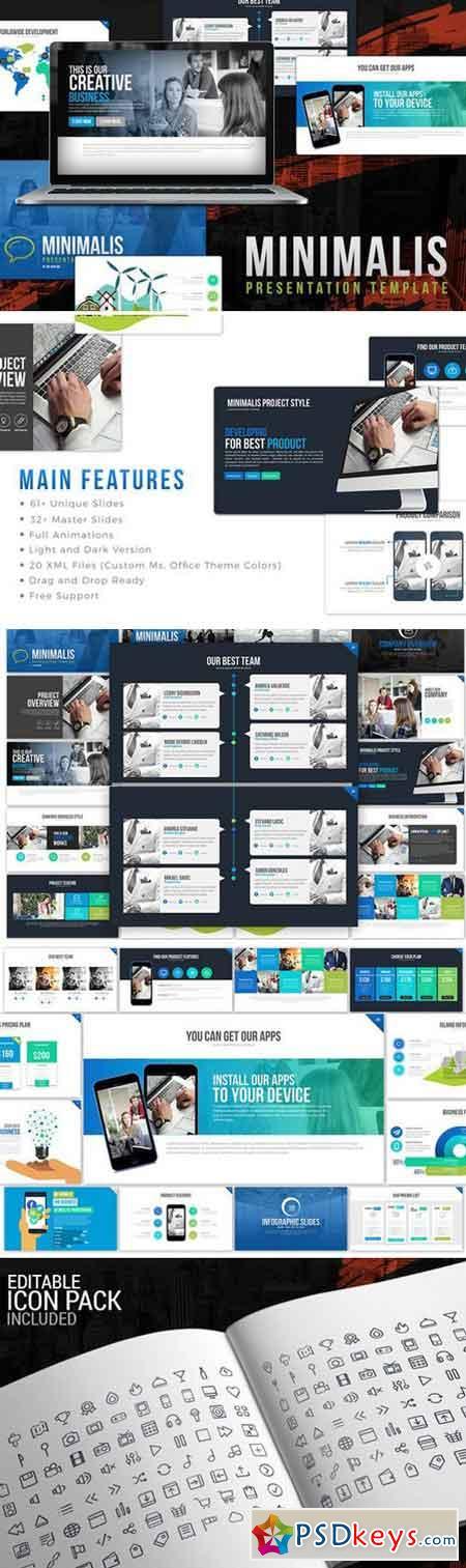 Minimalis PowerPoint Template 996883