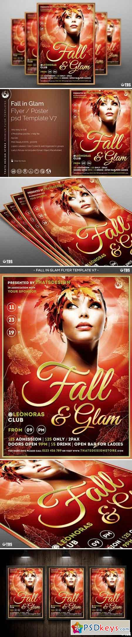 Fall in Glam Flyer Template V7 896080