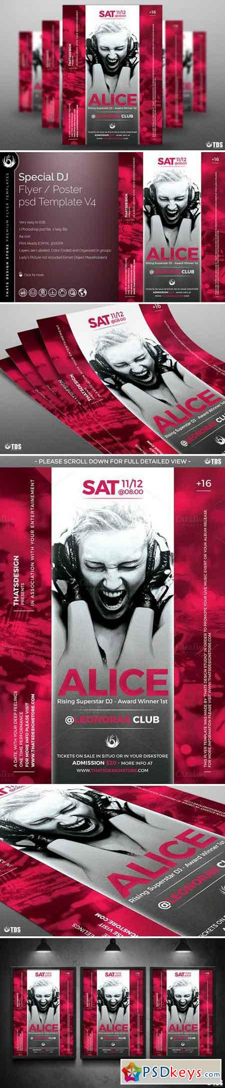 Special Dj Flyer Template V4 732384 » Free Download Photoshop Vector ...