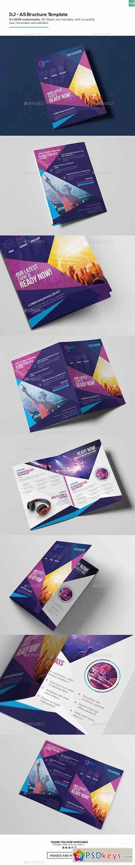 DJ A Brochure Template Free Download Photoshop Vector - A5 brochure template