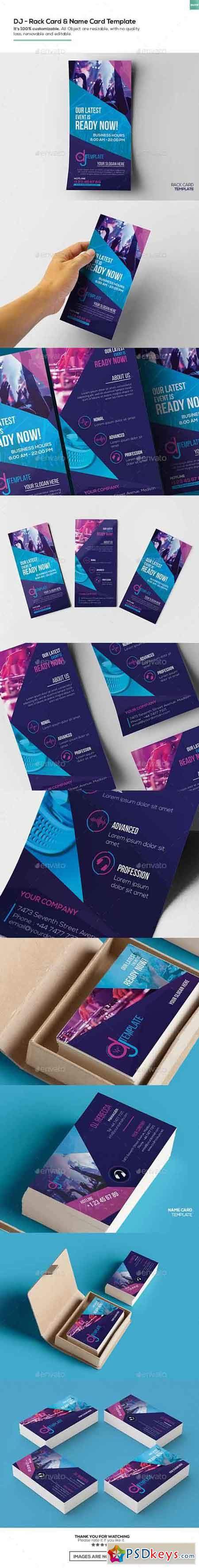 DJ Rack Card And Business Card Template Free Download - Rack card template photoshop