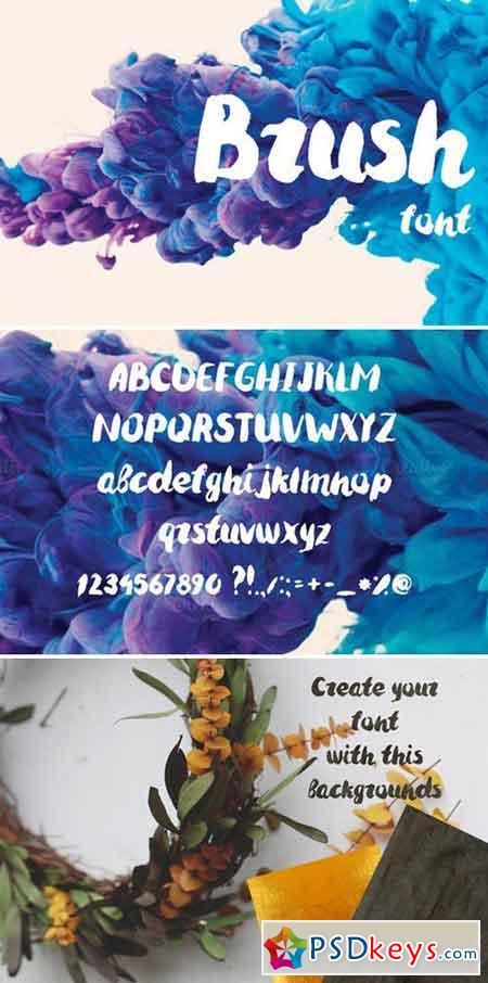 Brush font 1007148