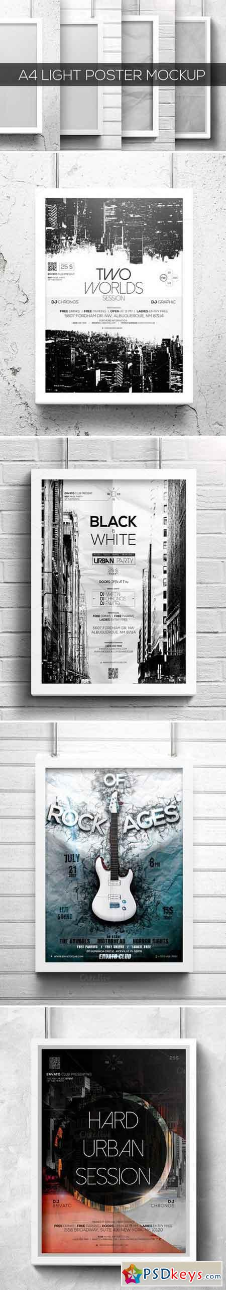 A4 Light Poster Mockup 1030993