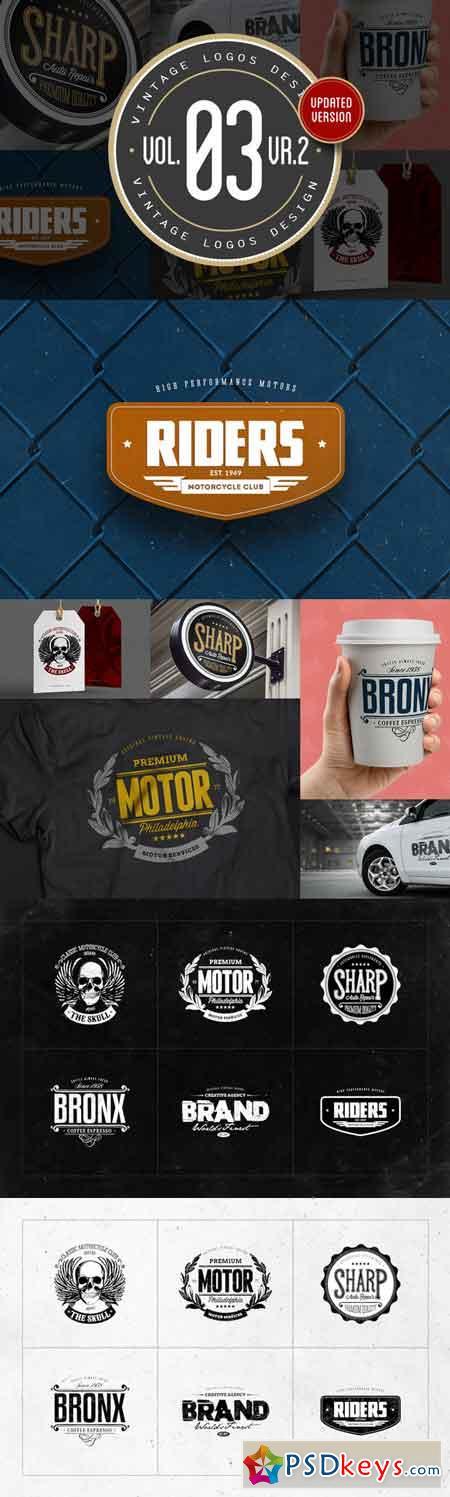 Vintage Logos Design Vol.03 12944