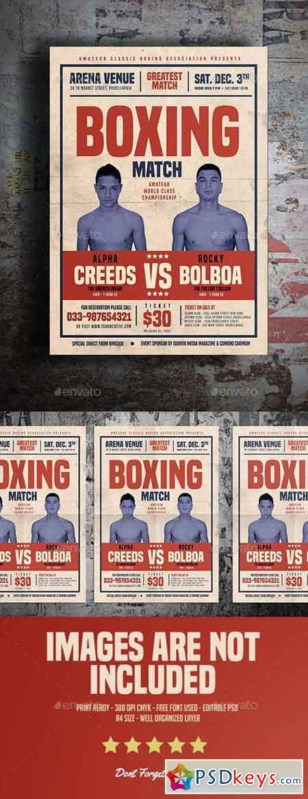 Old Vintage Boxing Flyer 15754065