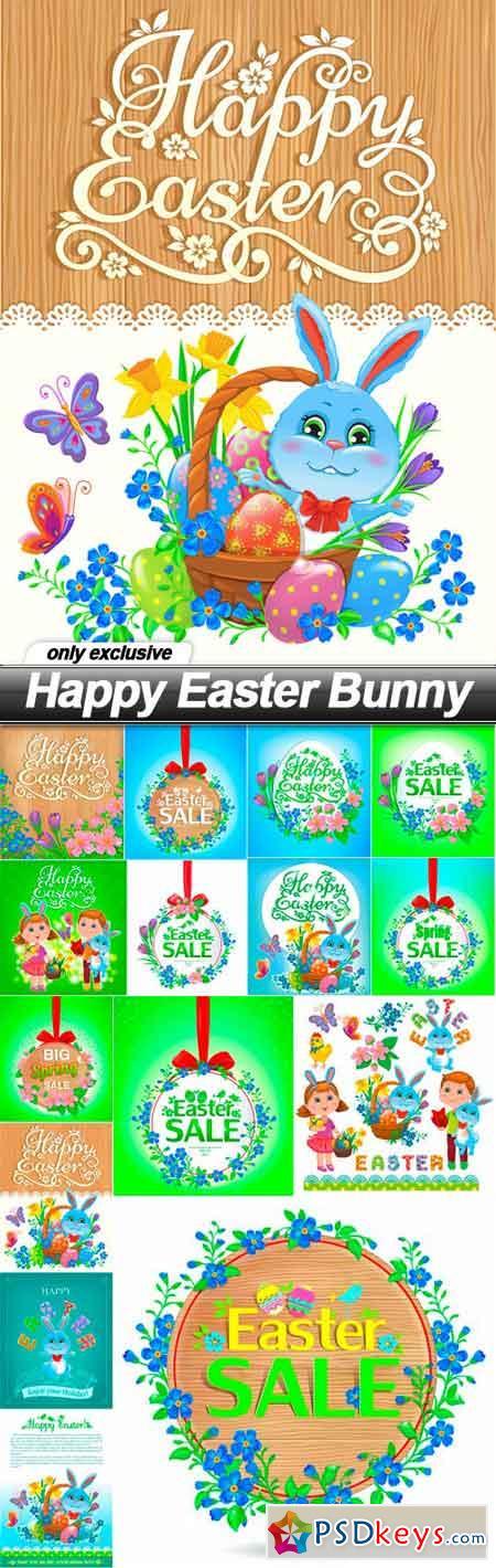 Happy Easter Bunny - 15 EPS
