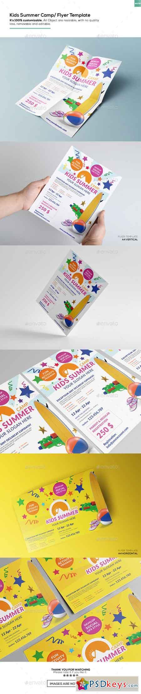 Kids Summer Camp Flyer Template 15774758