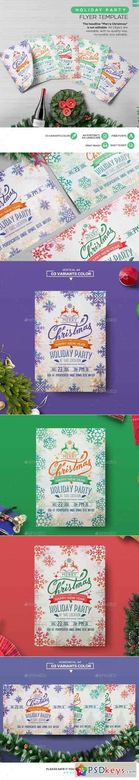 Holiday Party Flyer Template 13561858