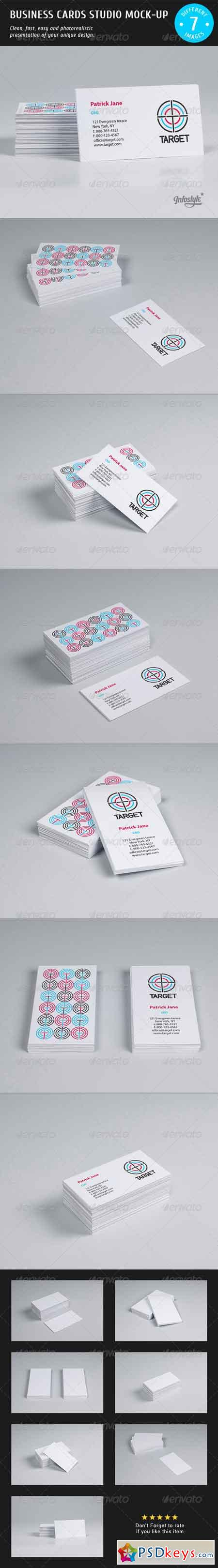 Business Cards Studio Mock-up 3892218 » Free Download Photoshop ...