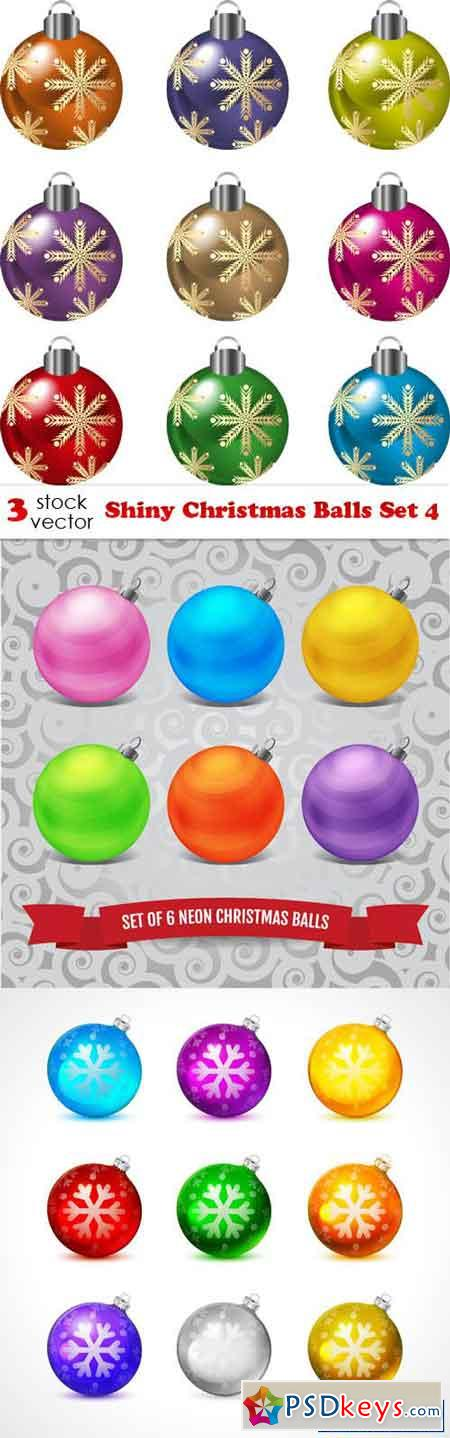 Shiny Christmas Balls Set 4