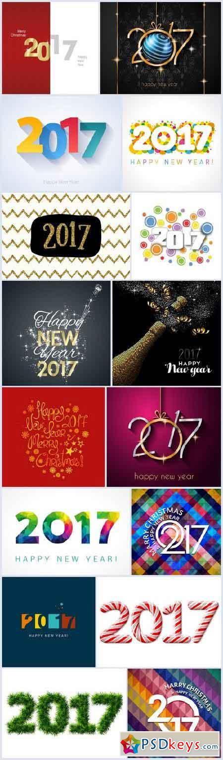 Happy New Year 2017 p.2 - 17xEPS
