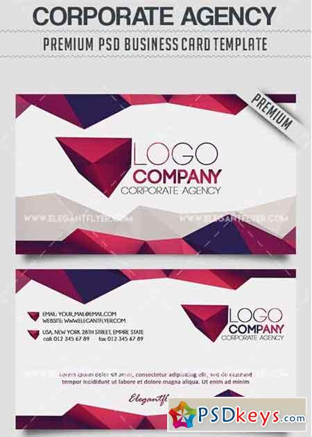 Corporate Agency V3 Business Card Templates PSD