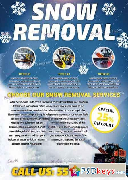 Snow Removal PSD V8 Flyer Template