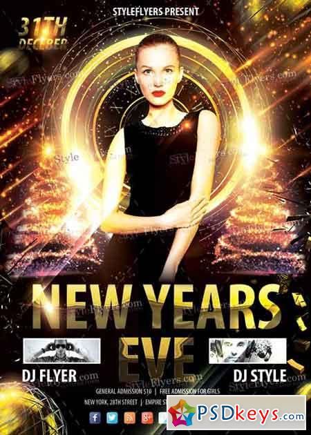 New Years Eve PSD V7 Flyer Template