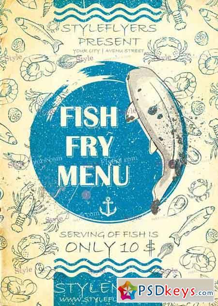Fish Fry Menu PSD V12 Flyer Template