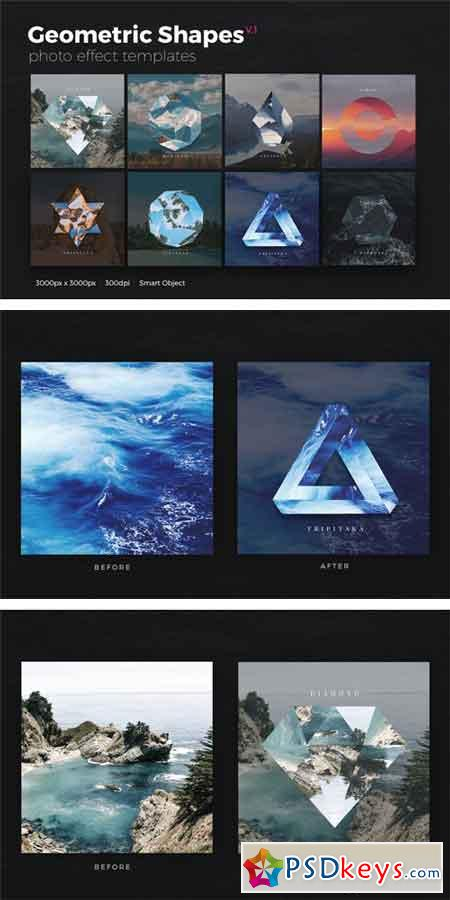 Geometric Shapes Photo Templates v1 1038268