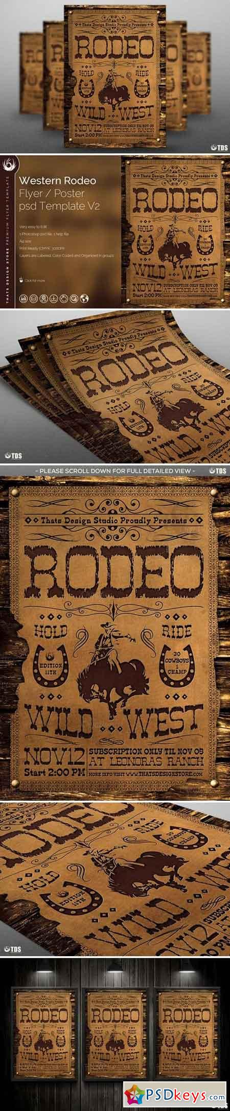 Western Rodeo Flyer Template V2 529000