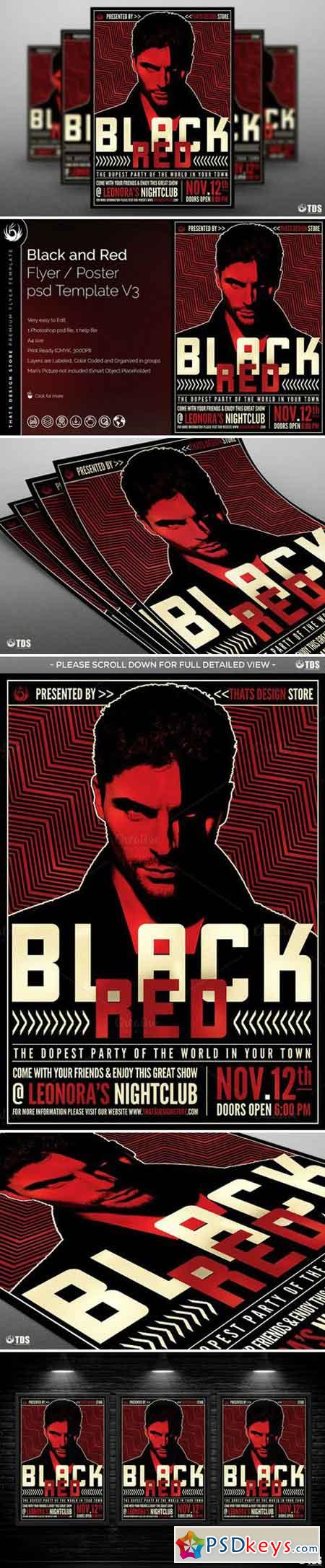 Black and Red Flyer Template V3 745016