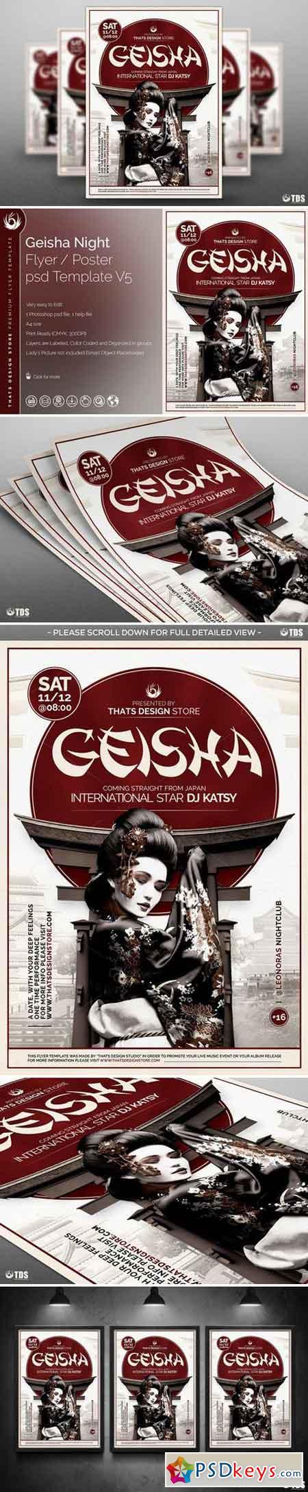 Geisha Night Flyer Template V5 733576