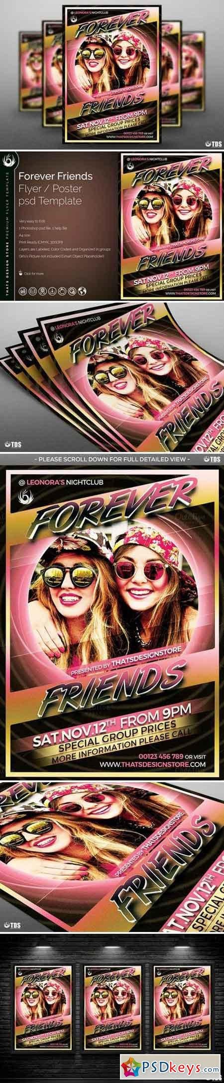 Forever Friends Flyer Template 792498