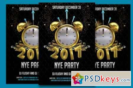 Happy 2017 NYE Party Flyer 980918