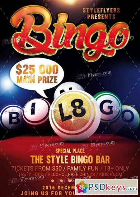 Bingo Psd V3 Flyer Template Free Download Photoshop Vector Stock
