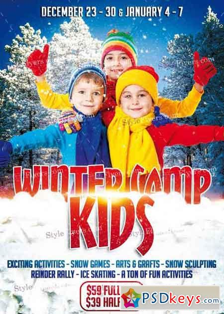 Kids Winter Camp Psd V5 Flyer Template Free Download Photoshop