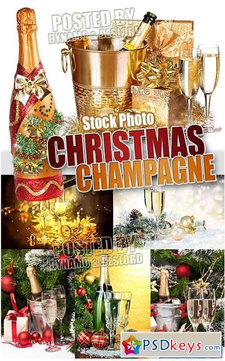 Christmas Champagne - UHQ Stock Photo
