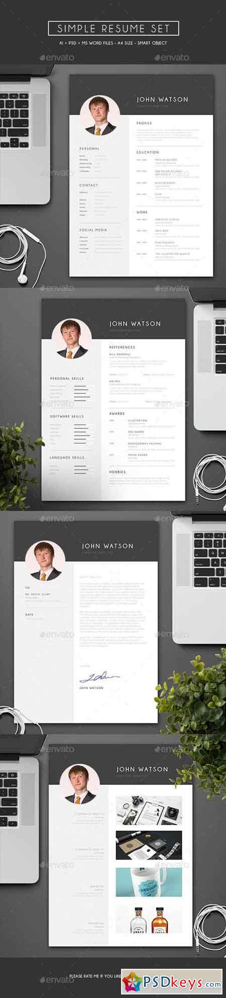 Simple Resume Set 13713856