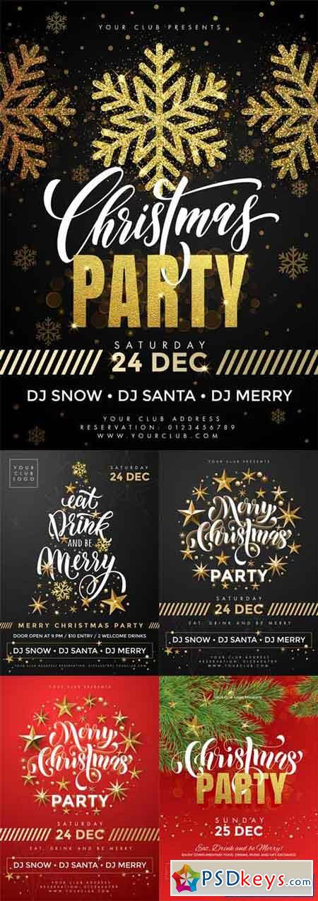 5 Christmas Party Flyer Templates Free Download Photoshop Vector