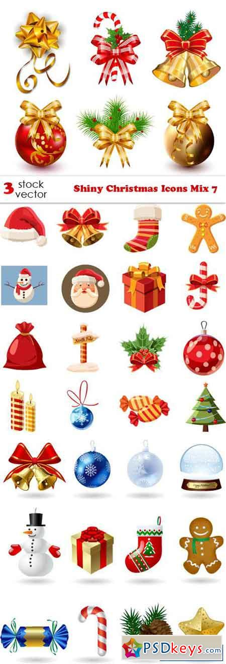 Shiny Christmas Icons Mix 7
