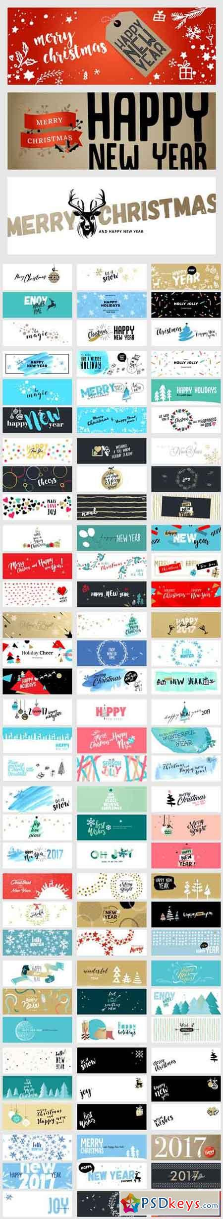 Christmas and New Year Social Media Banners