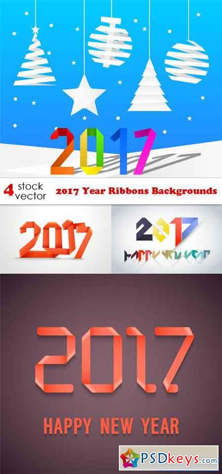 2017 Year Ribbons Backgrounds