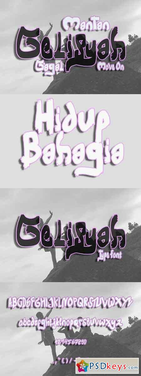 Gelisyah Script Font 1027923